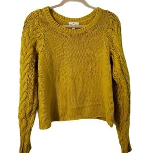 BP Oversized Cable Chunky Knit Sleeve Sweater S